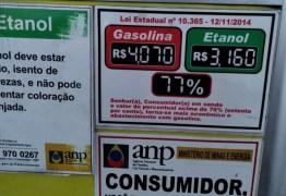 Aumenta a diferença de preço da gasolina entre Campina Grande e Juazeirinho