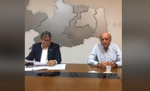 joaoegeraldo - Coronavírus: Governador anuncia fechamento de bancos, suspende missas e cultos e cobra apoio do governo federal