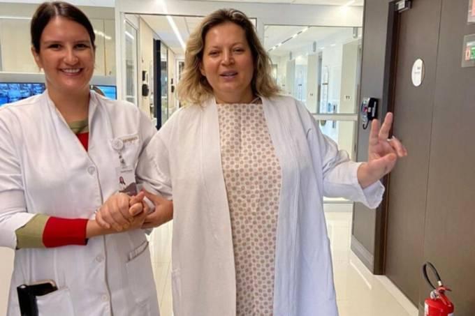 joice hasselman hospital1 - HISTERECTOMIA: Joice Hasselmann é submetida a uma cirurgia para retirada do útero