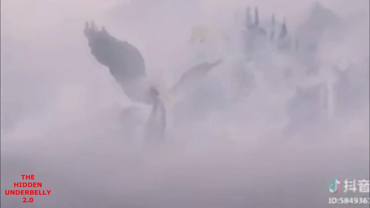 Turistas chineses filmam anjos com trombetas e imagens viralizam: VEJA VÍDEO
