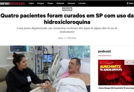HOMEM NA FOTO TEM ENFISEMA: Bolsonaristas compartilham notícia falsa de 'cura' de coronavírus por hidroxicloroquina