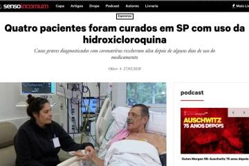 screen shot 2020 03 29 at 141438 - HOMEM NA FOTO TEM ENFISEMA: Bolsonaristas compartilham notícia falsa de 'cura' de coronavírus por hidroxicloroquina