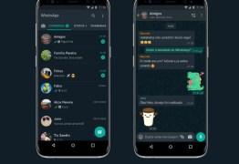 WhatsApp modo escuro está disponível para iPhone e Android