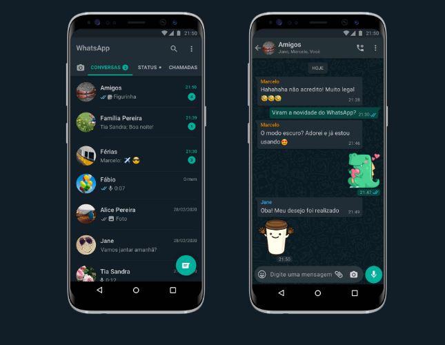 whatsapp - WhatsApp modo escuro está disponível para iPhone e Android