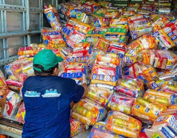 CORONAVÍRUS: Prefeitura de Alhandra reforça distribuição de cestas básicas às famílias carentes que estão em isolamento social