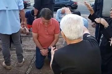 Bolsonaro2 e1586122601328 - Bolsonaro ora com religiosos no Palácio da Alvorada; VEJA VÍDEO