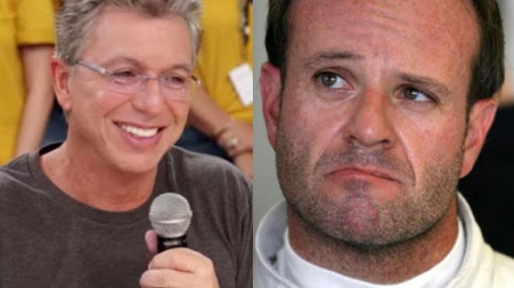 Boninho e Rubinho 2147663dc99766f450e38846800578b3560b48aa - Rubens Barrichello perde a paciência após Boninho fazer piada com ele