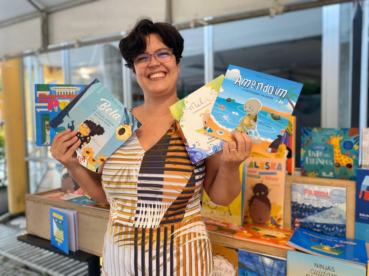 Escritora Palmira Heine FOTO ACERVO PESSOAL - Em homenagem a Monteiro Lobato, 18 de abril é considerado o Dia Nacional do Livro