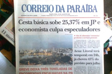 FIM DE UMA ERA: Após 66 anos, Jornal Correio da Paraíba publica última edição neste sábado (4)
