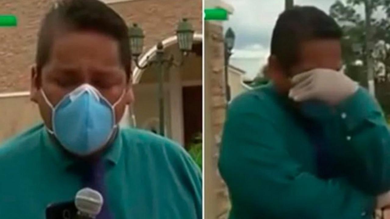 Repórter chora ao relatar consequências da Covid-19 no país