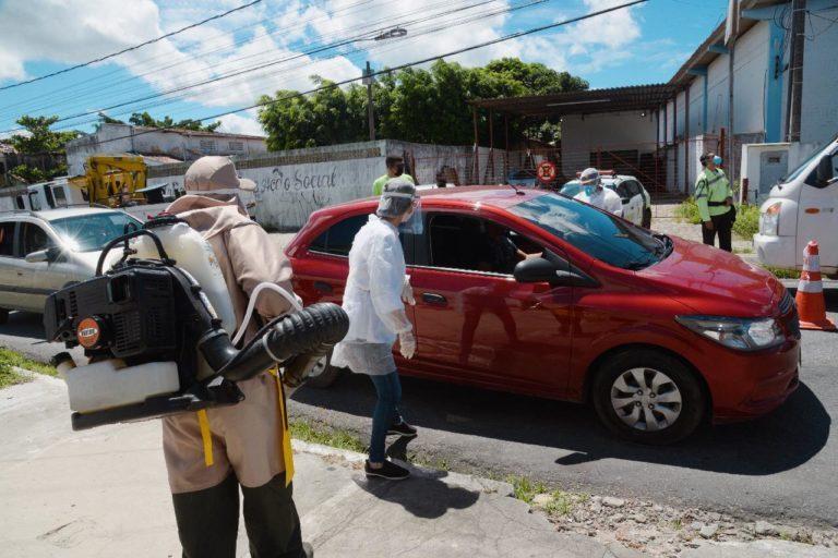 image 7 768x512 1 - PREVENÇÃO A COVID-19: Bayeux tem barreira sanitária e distribuição de máscaras