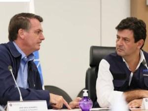 jair bolsonaro e luiz henrique mandetta durante conversa com a frente nacional de prefeitos 1585643897825 v2 450x337 300x225 - PELO MENOS POR ENQUANTO: Apesar da ameaça, Bolsonaro desiste de demitir Mandetta
