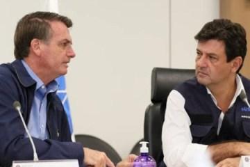 jair bolsonaro e luiz henrique mandetta durante conversa com a frente nacional de prefeitos 1585643897825 v2 450x337 - PELO MENOS POR ENQUANTO: Apesar da ameaça, Bolsonaro desiste de demitir Mandetta