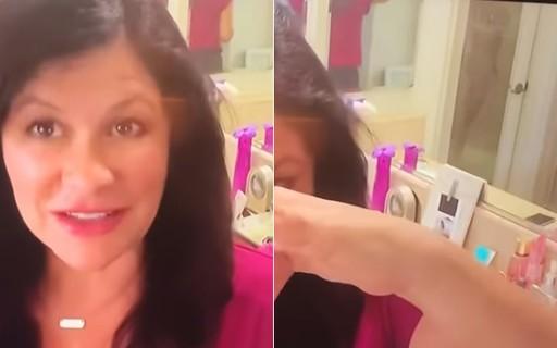 jornalista 4 - 'DESCUIDO': Jornalista mostra marido tomando banho em live; VEJA VÍDEO