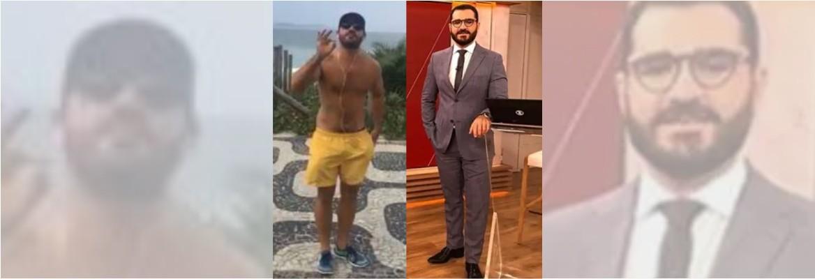 marcelo cosme - Apresentador da GloboNews é escrachado por bolsonarista ao ser flagrado caminhando na praia - VEJA VÍDEO