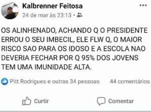 post quarentena2 300x223 - Homem que era contra isolamento social morre com sintomas de COVID-19 em Manaus