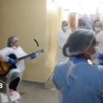 upa - SOLDADOS DE FRENTE DE BATALHA: profissionais da UPA de Campina Grande emocionam pacientes ao se reunir para cantar durante plantão