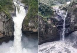 Maior catarata do Equador desaparece