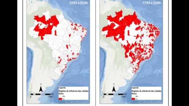 112201026 mapa3 - Coronavírus avança mais rápido em cidades pequenas, mostra levantamento