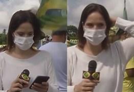 Repórter agredida com bandeirada durante manifestação em Brasília – VEJA VÍDEO