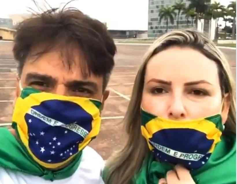 20200524215307975607e 1 - Assassino de Daniella Perez, Guilherme de Pádua participa de pró-Bolsonaro: 'Brasil precisa mudar' - VEJA VÍDEO