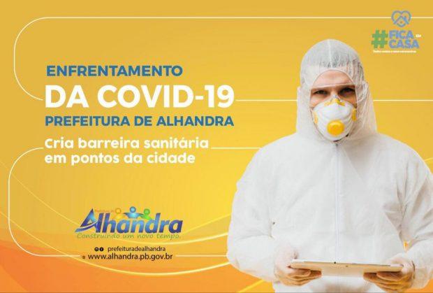 95381605 921892518258661 3790251623029145600 n 620x419 1 - NOVAS MEDIDAS: Prefeitura de Alhandra cria barreira sanitária em pontos da cidade