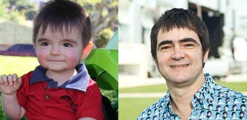 BB148QCN - Bebê viraliza na internet após semelhança com Samuel Rosa ser notada