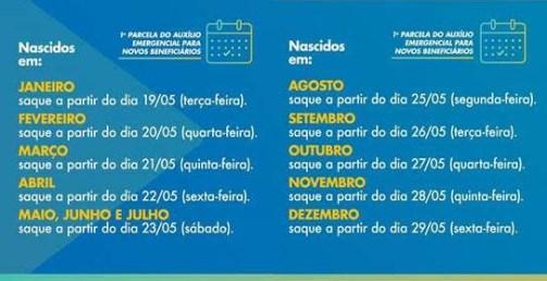 CALENDARIO 1 300x154 - NA PARAÍBA: Caixa abre 21 agências neste sábado para Auxílio Emergencial; confira quais