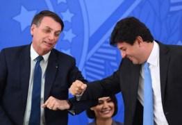 PESQUISA: Bolsonaro fica em primeiro e Mandetta aparece à frente de Doria em corrida para 2022