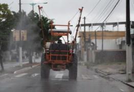 Prefeitura de Alhandra realiza desinfecção das principais ruas da cidade