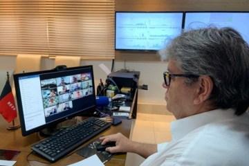 João Azevêdo 4 - Governador e prefeitos decidem endurecer regras de isolamento social