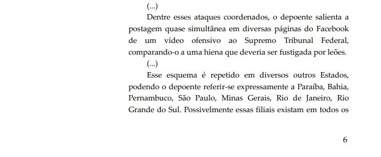 Paraíba - Investigação do STF contra fake news aponta 'gabinete do ódio' na Paraíba; VEJA TRECHO