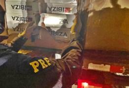 PRF na Paraíba apreende cargas de cigarro contrabandeados avaliada em mais de R$3 milhões