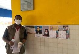 Porteiros de escolas estaduais recebem máscaras de proteção e álcool em gel