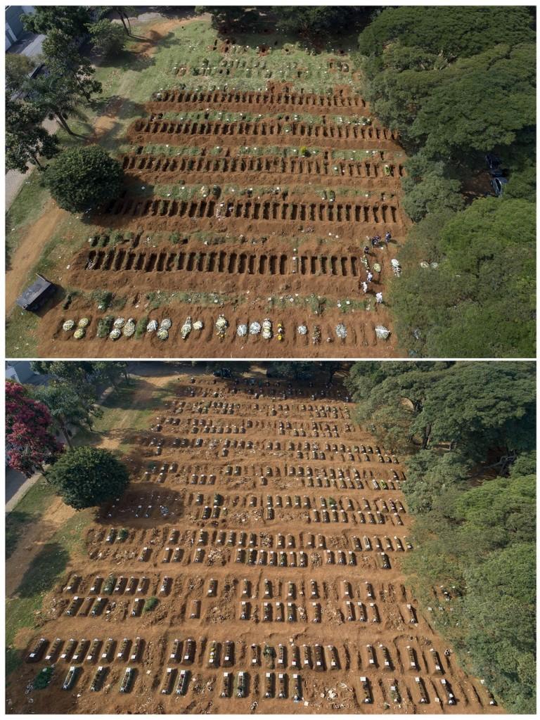 ap20122490376112 b - IMPACTO DO CORONAVÍRUS: Coveiro de SP faz mais de 75 enterros por dia: 'Não para nunca'