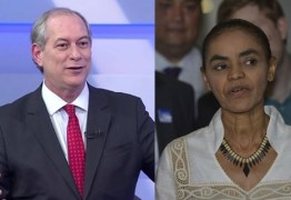 FRENTE AMPLA: Ciro e Marina quer encarnar o antipetismo e o antibolsonarismo