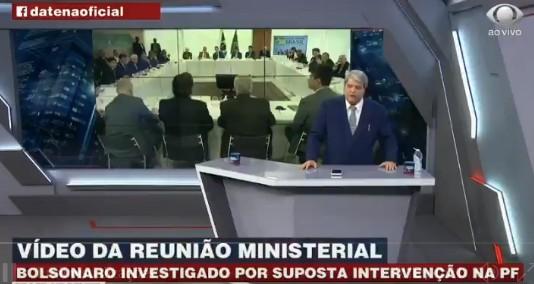 datenabolsonaro - NUNCA MAIS QUER ENTREVISTÁ-LO: Datena rompe com Bolsonaro após assistir aovídeo da reunião ministerial; VEJA