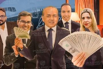 FARRA DAS DIÁRIAS: CMJP gastou R$ 60 mil com hospedagem e alimentação para bancar vereadores e servidores