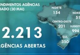 Caixa abre mais de 2.200 agências neste sábado(30), para pagamento do auxílio emergencial