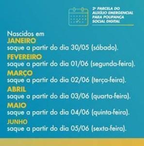 image006 297x300 - Crédito da segunda parcela do auxílio emergencial em poupanças digitais começa nesta quarta-feira 20 - CONFIRA CALENDÁRIO