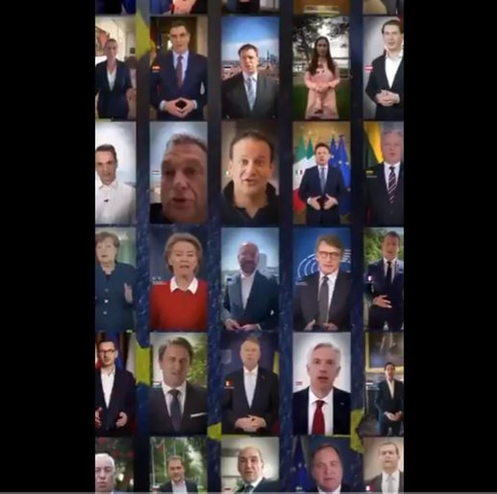 lideres - Líderes da União Europeia defendem solidariedade para que bloco saia fortalecido da pandemia - VEJA VÍDEO