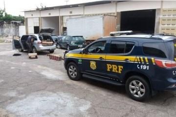 prf 1 - PRF na Paraíba, prende dois homens com mais de 25 mil maços de cigarros contrabandeados