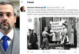 Confederação de judeus lança nota de repúdio contra ministro da Educação após fala comparando inquérito das fake news com evento nazista