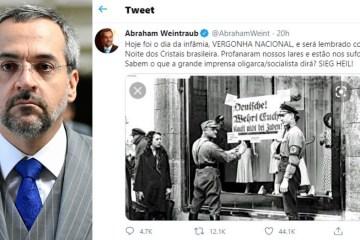 weintraub post widexl - Confederação de judeus lança nota de repúdio contra ministro da Educação após fala comparando inquérito das fake news com evento nazista
