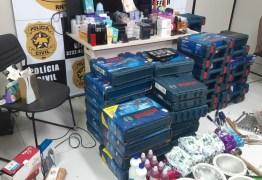 Homem que vendia máquinas, ferramentas, eletrônicos e perfumes roubados na internet é preso no RN