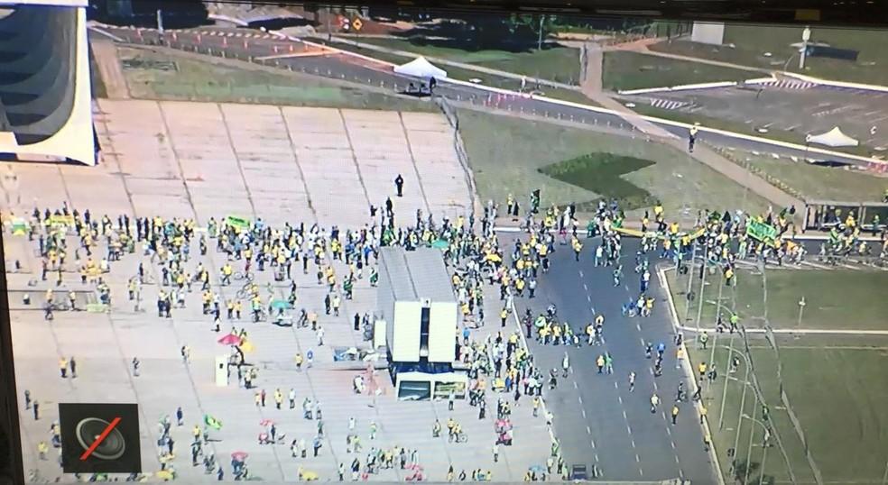 whatsapp image 2020 05 31 at 11.07.19 - Manifestantes fazem ato em Brasília em apoio a Bolsonaro e em defesa de medidas inconstitucionais
