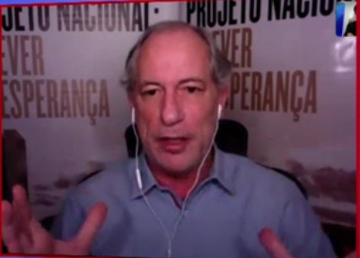 """1 1 - Ciro Gomes diz que Bolsonaro tem """"atitude assassina"""" durante pandemia e fala sobre candidatura de Moro em 2022: adversário perigoso"""