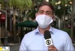 Repórter da Globo se declara ao marido ao vivo e internautas comemoram