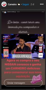 CARNEIRO NISSAN 153x300 - Gafe de cantor em live vira propaganda para concessionária de veículos na Paraíba - VEJA VÍDEO