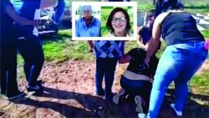 FILHA MAE COVID 300x169 - Filhas choram e pedem perdão durante enterro de mãe infectada por Covid-19 - VEJA VÍDEO